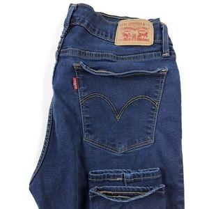 Levis 710 Super Skinny Dark Wash Blue Stretch Jean